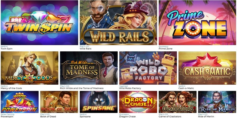 Spelutbud hos Pronto Casino