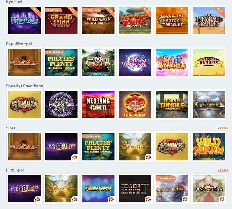 Speedy Casino spelautomater